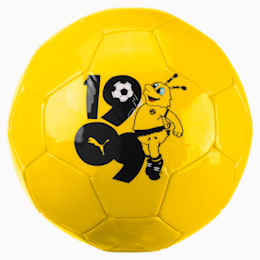 BVB Kids' Graphic Mini Ball, Cyber Yellow-Puma Black, small