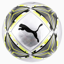ftblNXT Spin Fußball, Silver-Fizzy Yellow-Black, small