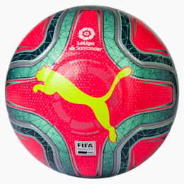 LaLiga 1 FIFA Quality Pro Football, Pink Alert-Yellow-Green, small