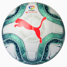 LaLiga 1 HYBRID (Dimple) Football, White-Green Glimmer-Nrgy Red, small