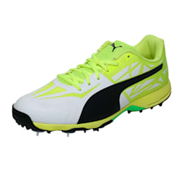 evoSPEED Spike 1.5 Men's Cricket Boots, white-black-yellow, small-IND