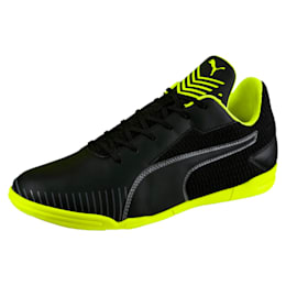 365 CT Men's Court Football Shoes, Black-Black-Yellow-White, small-IND