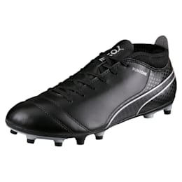 ONE 17.4 FG Men's Football Boots, Black-Black-Silver, small-IND