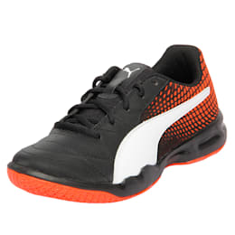 Veloz Indoor NG Kids' Training Shoes, Black-White-Cherry, small-IND