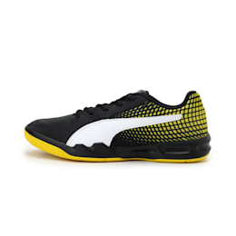 Veloz Indoor NG Kids' Training Shoes, Black-White-Yellow, small-IND