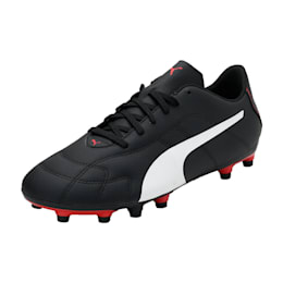 Classico C Firm Ground Men's Football Boots, Black-White-Red, small-IND