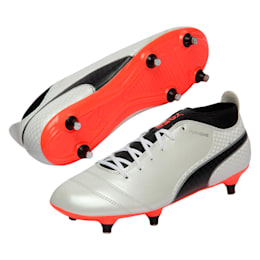 PUMA ONE 17.4 SG, White-Black-Coral, small-IND