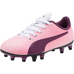 Spirit FG Soccer Cleats JR, White-Purple-Pink, small