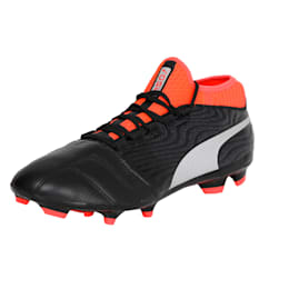 ONE 18.3 FG Men's Football Boots, Black-Silver-Red, small-IND