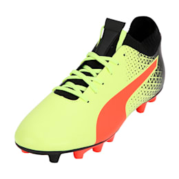 evoKNIT FG Men's Football Boots, Yellow-Red-Black, small-IND