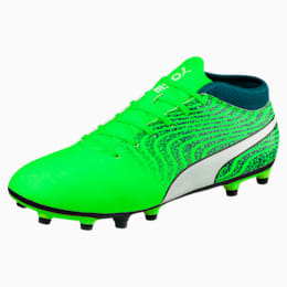 ONE 18.4 FG Men's Football Boots, Green-White-Deep Lagoon, small-IND