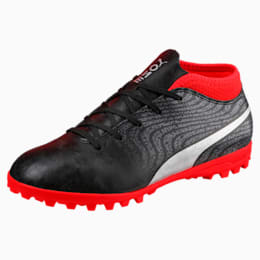 ONE 18.4 TT Jr Football Boots, Black-Silver-Red, small-IND