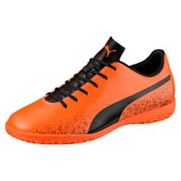 Truora IT Men's Indoor Training Shoes, Orange-Black-Cordovan, small-IND