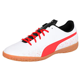 Truora IT Men's Indoor Training Shoes, White-Flame Scarlet-Black, small-IND