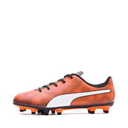 Rapido FG Youth Football Boots, Black-Orange-White, small-IND