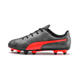 Rapido FG Boy's Soccer Cleats JR, Black-Nrgy Red-Aged Silver, small