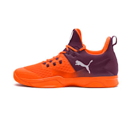 Rise XT 3 Indoor Teamsport Shoes, Orange-Purple-White, small-IND