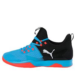 Rise XT 3 Indoor Teamsport Shoes, Bleu Azur-Red Blast-Black, small-IND