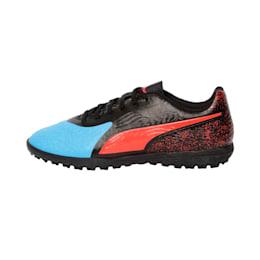 PUMA ONE 19.4 TT Football Boot, Bleu Azur-Red Blast-Black, small-IND