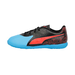 PUMA ONE 19.4 IT Youth Football Boots, Bleu Azur-Red Blast-Black, small-IND