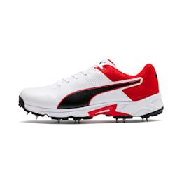Chaussure de cricket PUMA Spike 19.2 pour homme, White-Black-High Risk Red, small