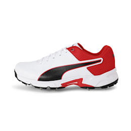 PUMA Spike 19.2 Men's Cricket Boots, White-Black-High Risk Red, small-IND