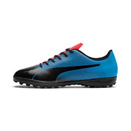 PUMA Spirit II TT Men's Soccer Shoes, Black-Bleu Azur-Red Blast, small