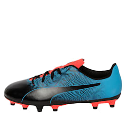 PUMA Spirit II FG Youth Football Boots, Black-Bleu Azur-Red Blast, small-IND