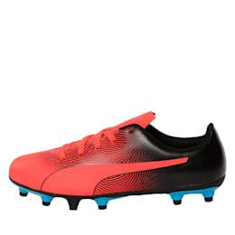 PUMA Spirit II FG Youth Football Boots, Red Blast-Black-Bleu Azur, small-IND