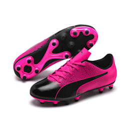 PUMA Spirit II FG Soccer Cleats JR, Puma Black-KNOCKOUT PINK, small