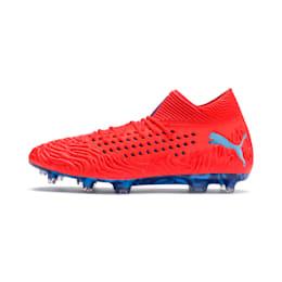 FUTURE 19.1 NETFIT FG/AG Men's Football Boots, Red Blast-Bleu Azur, small-IND