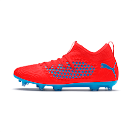 FUTURE 19.3 NETFIT FG/AG Men's Soccer Cleats, Red Blast-Bleu Azur, small