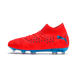 FUTURE 19.1 NETFIT FG/AG Soccer Cleats JR, Red Blast-Bleu Azur, small