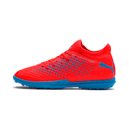FUTURE 19.4 TT Youth Football Boots, Red Blast-Bleu Azur, small-IND