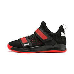 Calçado de andebol Rise XT3 NETFIT, Puma Black-Silver-Nrgy Red, small