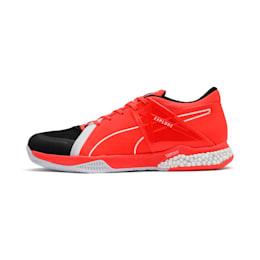 Explode XT Hybrid 2 Handball Shoes, Black-Puma White-Nrgy Red, small