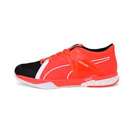 Explode XT Hybrid 2 Handball Shoes, Black-Puma White-Nrgy Red, small-IND