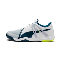 Explode XT 3 Men's Indoor Sports Performance Shoes, White-Grey-Yellow-Gibraltar, small-IND