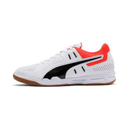 Auriz Indoor Sport Men's Trainers, White-Black-Nrgy Red-Gum, small