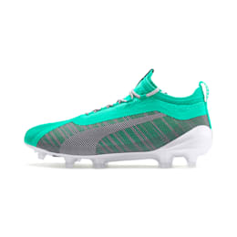 Chaussure de foot PUMA ONE 5.1 Limited Edition FG/AG pour homme, Green-White-Biscay Green, small