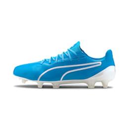 プーマ キング プラチナム FG/AG サッカースパイク, Luminous Blue-Puma White, small-JPN
