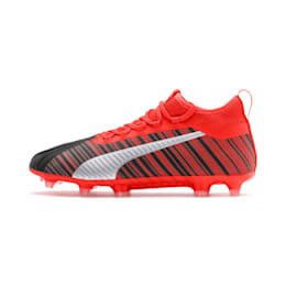 PUMA ONE 5.2 Men's Football Boots, Black-Nrgy Red-Aged Silver, small