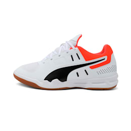 Auriz Youth Shoes, White-Black-Nrgy Red-Gum, small-IND