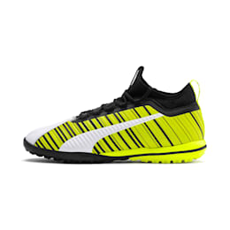 PUMA ONE 5.3 TT Men's Soccer Shoes, White-Black-Yellow Alert, small