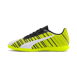 PUMA ONE 5.4 IT fodboldstøvler til mænd, White-Black-Yellow Alert, small