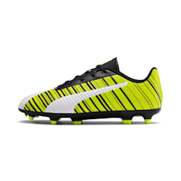 PUMA ONE 5.4 IT Youth Football Boots, White- Black-Yellow Alert, small