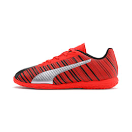 PUMA ONE 5.4 IT Soccer Shoes JR, Black-Nrgy Red-Aged Silver, small