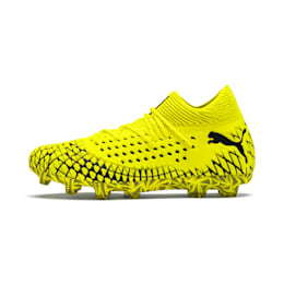 フューチャー 4.1 NETFIT HG サッカースパイク, Yellow Alert-Puma Black, small-JPN