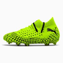FUTURE 4.1 NETFIT FG/AG Soccer Cleats JR, Yellow Alert-Puma Black, small