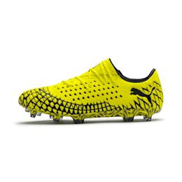 FUTURE 4.1 NETFIT Low Herren Fußballschuhe, Yellow Alert-Puma Black, small